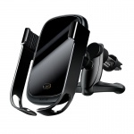 Baseus Rock-solid Wireless Car Charger and Mounted Holder Black