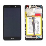 Huawei Honor 6X LCD + Touch + Frame + Battery - Black (Service Pack)