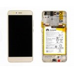 Huawei P10 Lite LCD + Touch + Frame + Battery - Gold (Service Pack)