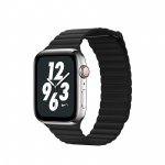 COTEetCI Leather Back Loop Band for Apple Watch 38 / 40mm Black
