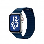 COTEetCI Leather Back Loop Band for Apple Watch 42 / 44mm Dark Blue