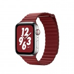 COTEetCI Leather Back Loop Band for Apple Watch 38 / 40mm Red