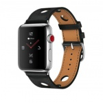 COTEetCI Fashion Leather Band for Apple Watch 42 / 44mm Black