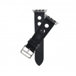 COTEetCI Fashion Leather Band for Apple Watch 38 / 40mm Black