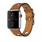 COTEetCI Fashion Leather Band for Apple Watch 42 / 44mm Brown