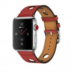 COTEetCI Fashion Leather Band for Apple Watch 42 / 44mm Red