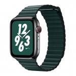COTEetCI Leather Back Loop Band for Apple Watch 38 / 40mm Forest Green