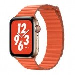 COTEetCI Leather Back Loop Band for Apple Watch 42 / 44mm Sunset