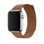 COTEetCI Leather Back Loop Band for Apple Watch 42 / 44mm Saddle Brown
