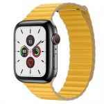COTEetCI Leather Back Loop Band for Apple Watch 38 / 40mm Meyer Lemon