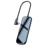 Baseus Multi-functional HUB (Type-C to 3x USB 3.0 + HD4K + SD/TF + PD) Deep Grey