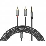 Hoco Double Lotus RCA Audio Cable 3.5mm (1.5m) (Metal Grey)