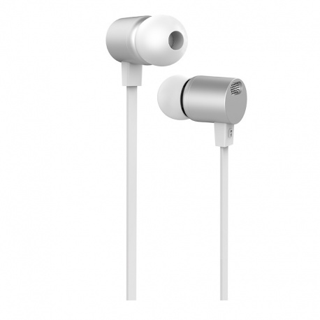 Hoco Full Harmony Wire Control Earphones with Mic (Silver)