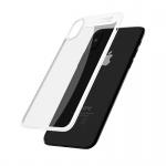 Mcdodo iPhone X / XS Dual Clear Bumper Case (PC + TPU) Transparent-White