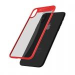 Mcdodo iPhone X / XS Dual Clear Bumper Case (PC + TPU) Transparent-Red