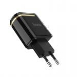 Hoco Enchanting Dual-Port Digital Display Charger (EU) (Black)