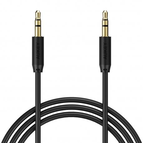 Aukey Round Audio Cable DC3.5 to DC3.5 (Black)