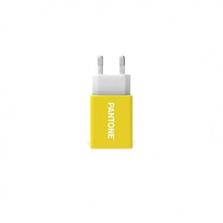 Pantone Wall charger adaptér 2,1A žlutý