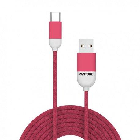 Pantone USB-C kabel 1,5m růžový