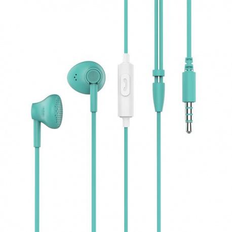 Pantone drátová sluchátka světle modrá