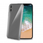 Celly TPU Case for iPhone X / XS Transparent Black