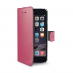 Celly Wally Flip Case for iPhone 6S Plus Fucsia