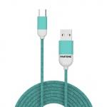 Pantone TYPE-C Cable Cyan 1,5m Cyan