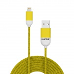 Pantone Lightning Cable 1,5m Yellow