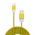 Pantone TYPE-C Cable Cyan 1,5m Yellow