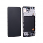 Samsung Galaxy A51 A515 LCD + Touch + Frame Black (Service Pack)