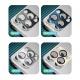 Coteetci Aluminium Camera Glass for iPhone 12 6.1 Silver