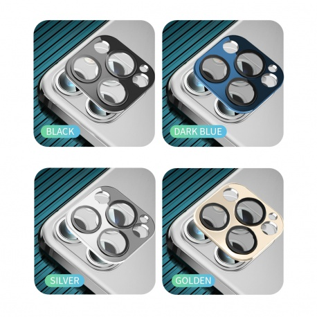 Coteetci Aluminium Camera Glass for iPhone 12 6.1 Blue