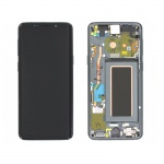 Samsung Galaxy S9 G960 LCD + Touch + Frame Grey (Service Pack)