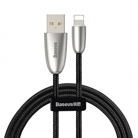 Baseus Torch Series Data Cable USB for iPhone 2.4A 1M Black(With Lamp)