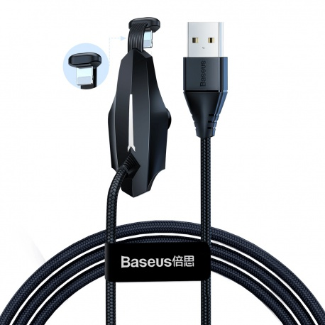 Baseus Colorful Suction Mobile Game Data Cable USB for iPhone 2.4A 1.2M Black