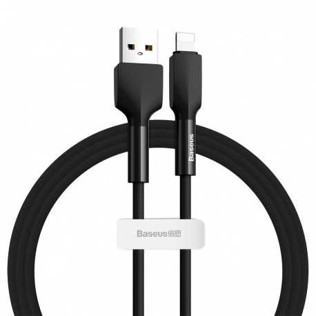 Baseus Silica Gel Cable USB for iPhone 1M Black
