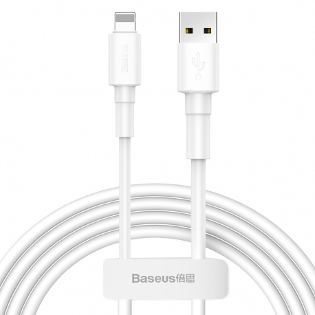 Baseus Mini White Cable USB for Lightning 2.4A 1M White