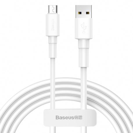 Baseus Mini White Cable USB for Micro 2.4A 1M White