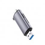UGREEN USB-C TF + SD Card Reader with USB Power Black-Silver