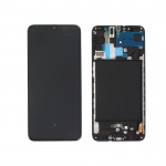 Samsung Galaxy A70 A705 LCD + Touch + Frame Black (Service Pack)