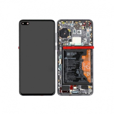Huawei P40 LCD + Touch + Frame + Battery + Finger Print Sensor Black (Service Pack)