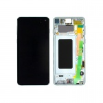 Samsung Galaxy S10 G973 LCD + Touch + Frame Prism Green (Service Pack)