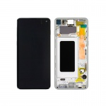 Samsung Galaxy S10 G973 LCD + Touch + Frame Prism White (Service Pack)