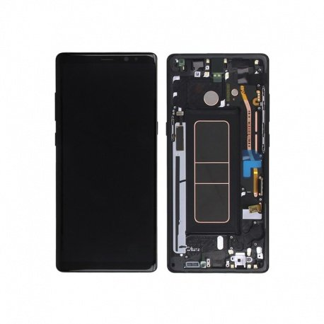 Samsung Galaxy Note8 N950 LCD + Touch + Frame Black (Service Pack)