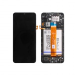 Samsung Galaxy A12 A125 2020 LCD + Touch + Frame Black (Service Pack)