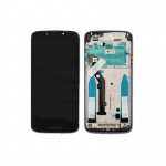Motorola E5 LCD + Touch + Cover Black (Service Pack)