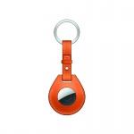 COTEetCI H Series AirTag Locator Keychain Leather Case Orange