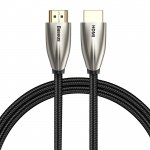 Baseus Horizontal 4K HDMI Male to 4K HDMI Male Adapter Cable 2m Black