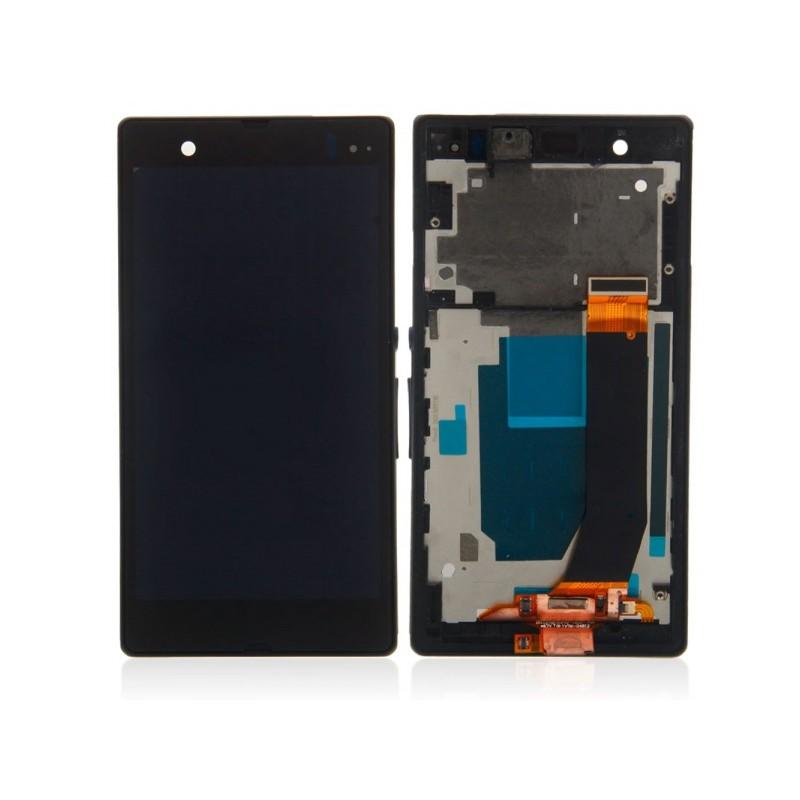 Sony Xperia V LCD displej + dotyk + rám Black