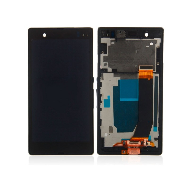 Sony Xperia M LCD displej + dotyk + rám Black